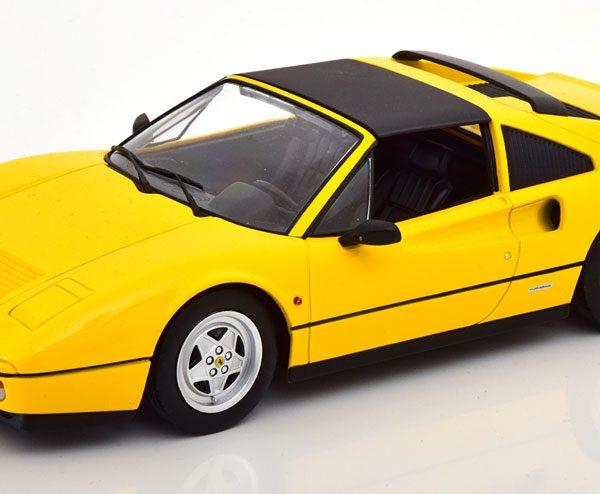 Ferrari 328 GTS 1985 Geel 1-18 KK Scale ( Metaal )