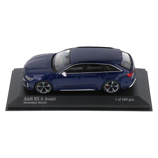 Audi RS6 Avant 2019 Blauw Metallic 1-43 Minichamps Limited 480 Pieces