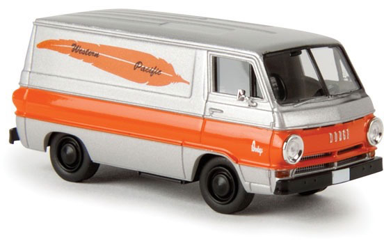 Dodge A 100 Zilver/Oranje 1-87 Brekina