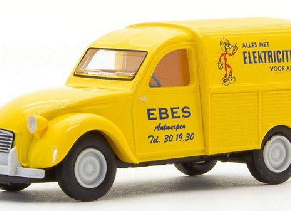 "Citroen 2CV Kastenente Delivery Truck ""EBES"" Geel 1-87 Brekina"