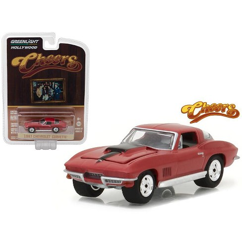 "Chevrolet Corvette 1967 ""Cheers"" 1-64 Rood Greenlight Hollywood Collectibles"