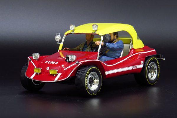 """Puma Dune Buggy 1972 """"Inkl met de Figuren Bud Spencer & Terence Hill"""" Rood 1:18 Laudoracing"""