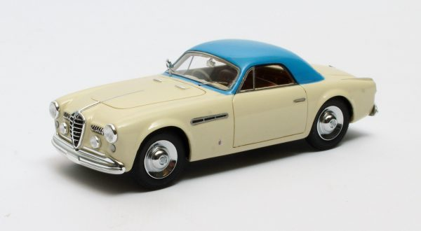 Alfa Romeo 6C 2500 SS Supergioiello Ghia Coupe 1950 Creme/Blauw 1-43 Matrix Scale Models Limited 408 pcs.