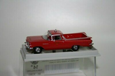Chevrolet El Camino Fire Department Rood 1-87 Brekina