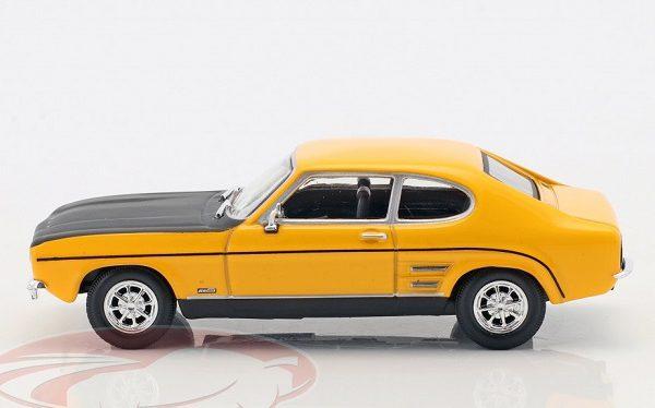 Ford Capri MK I Geel / Zwart 1-43 Cararama