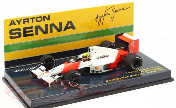 McLaren Honda MP4/5B #27 High Nose Test F1 1990 World Champion Ayrton Senna 1:43 Minichamps