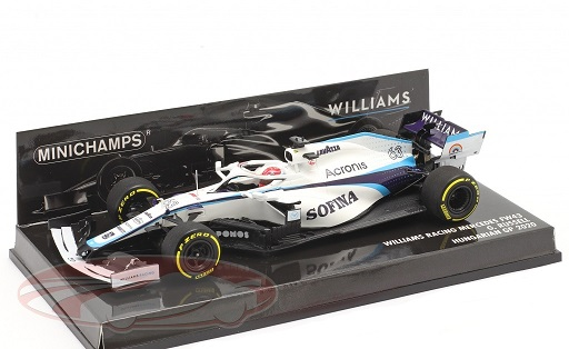 Williams Racing Mercedes FW43 #63 F1 Hungarian GP 2020 George Russell 1:43 Minichamps