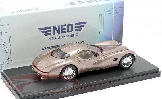 Chrysler Atlantic Concept Car 1995 Donker Beige Metallic 1:43 Neo Scale Models