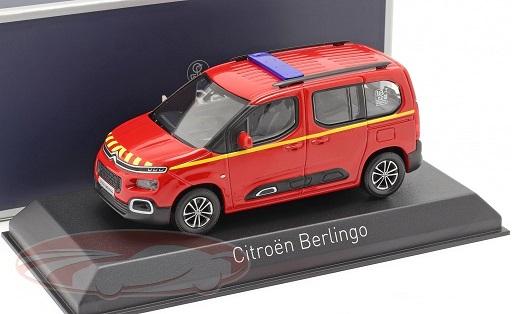 """Citroen Berlingo """"Pompiers"""" 2020 Rood 1:43 Norev"""