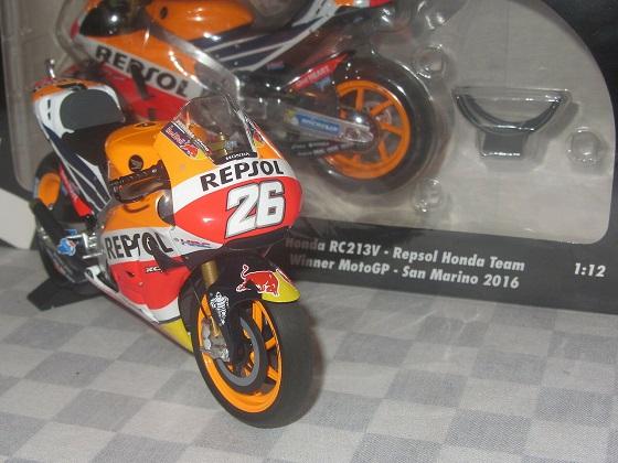 Honda RC213V Repsol Honda Team Winner MotoGP San Marino 2016 Dani Pedrosa 1-12 Minichamps