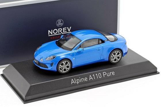 Renault Alpine A110 Pure 2018 Alpine Blue 1-43 Norev