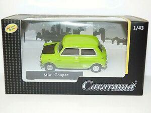 Mini Cooper 1-43 Groen ( look al Like Mr Bean ) Cararama