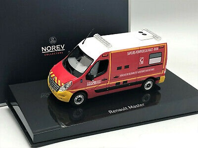 "Renault Master 2011 ""Pompiers VSAV Yellow Bumpers"" Rood 1/43 Norev"