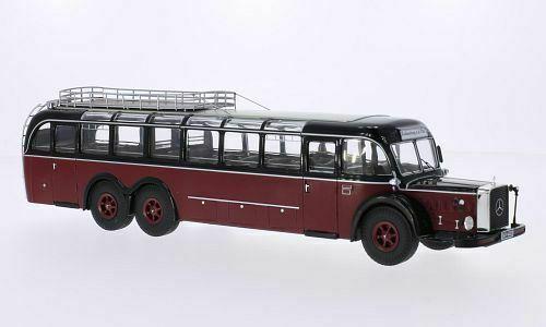 Mercedes-Benz O 10000 Bordeaux Rood / Zwart 1:43, Premium Classixxs