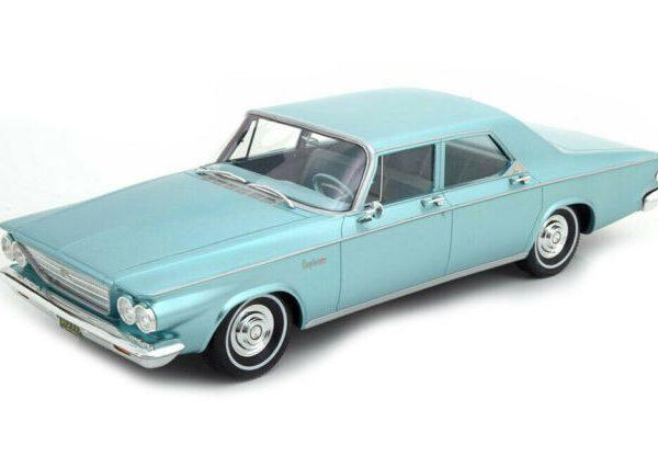 Chrysler Newport 4-Doors Sedan 1963 Blauwgroen Metallic 1-18 BOS Models Limited 504 Pieces