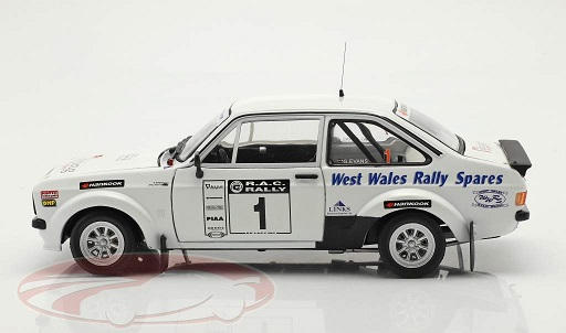 Ford Escort MK II RS1800 #1 Winner Roger Albert Clark Rally 2009 G.Evans / J.Millington Wit 1-18 Sun Star Limited 999 Pieces