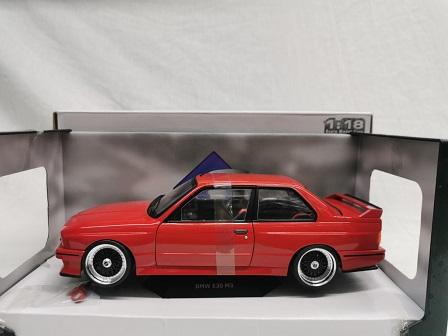 BMW M3 E30 1986 ( met BBS Velgen Zwart ) Rood 1-18 Solido