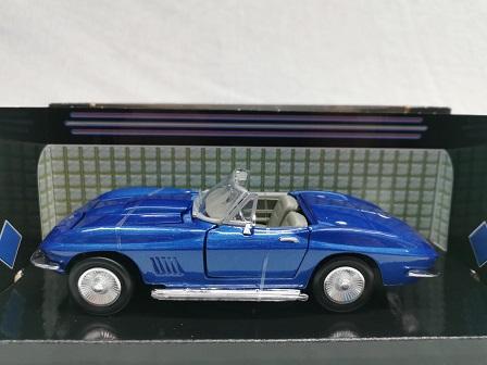 Chevrolet Corvette Roadster 1967 Blauw 1-24 Motormax
