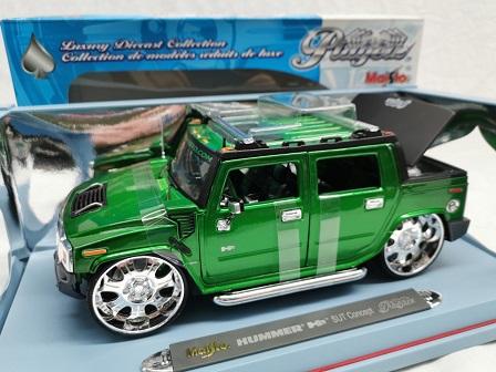 Hummer H2 SUT Concept 2003 Groen 1-18 Maisto Playerz