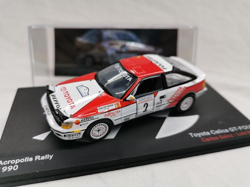 Toyota Celica GT-Four #2 Acropolis Rally 1990 Carlos Sainz / Luis Moya 1-43 Altaya Rallye Collection