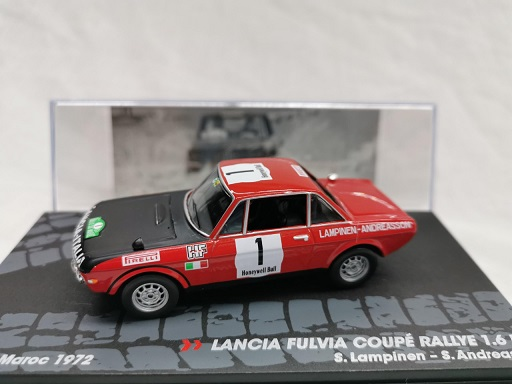 Lancia Fulvia Coupe Rallye 1.6 HF Nr#1 Rally Du Maroc 1972 S.Lampinnen / S.Andreasson 1-43 Altaya Rally Collection