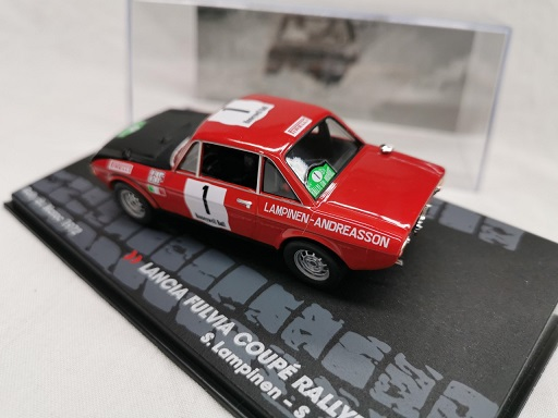 Lancia Fulvia Coupe Rallye 1.6 HF Nr#1 Rally Du Maroc 1972 S.Lampinnen / S.Andreasson 1-43 Altaya Rally Collection