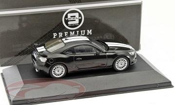 Subaru BRZ 2013 Zwart / Wit 1:43 Triple 9 Collection Limited 504 Pieces