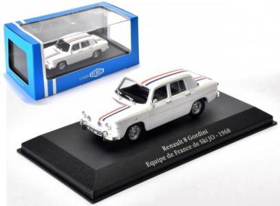 Renault 8 Gordini Equipe 1968 Wit/Blauw/Rood 1:43 Atlas