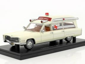 Cadillac S&S Ambulance High Top Wit 1-43 Neo Scale Models