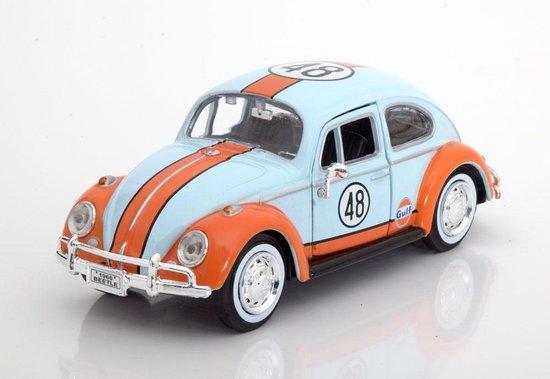 """Volkswagen Beetle 1966 #48 """"Gulf """" Blauw/Oranje 1:24 Motormax"""
