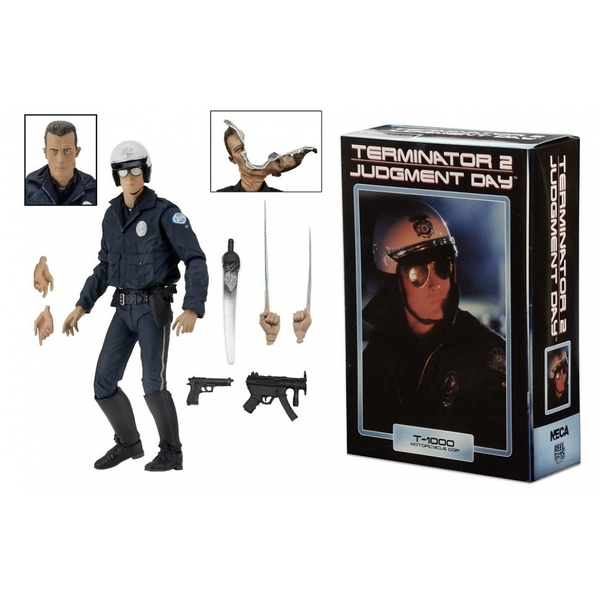 Terminator 2: Judgment Day T-1000 Motorcycle Cop 7 inch Neca