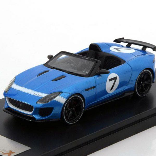 Jaguar F-Type Project 7 Goodwood Festival Of Speed 2013 Blauw Metallic 1-43 PremiumX ( Resin )