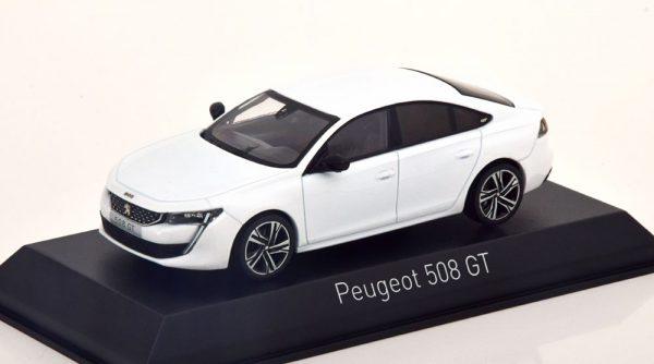 Peugeot 508 GT 2018 Wit 1-43 Norev