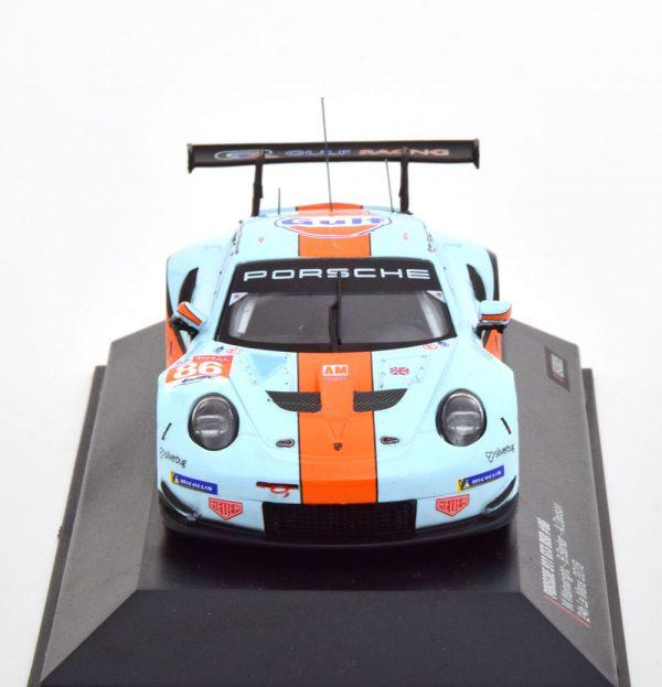 """Porsche 911 (991) GT3 RSR No.86, 24Hrs Le Mans 2018 """"Gulf"""" Wainwright/Barker/Davison 1-43 Ixo Models"""