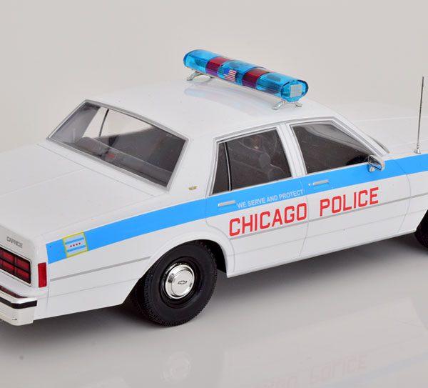 "Chevrolet Caprice ""Chicago Police Department"" 1980 Wit / Blauw 1-18 MCG Models"