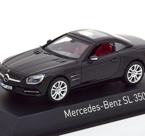 Mercedes-Benz SL 350 Roadster 2012 Zwart 1-43 Norev
