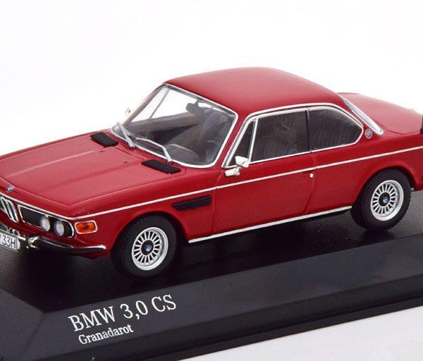 BMW 3.0 CS (E9) Coupe 1969 Rood 1-43 Minichamps Limited 504 Pieces