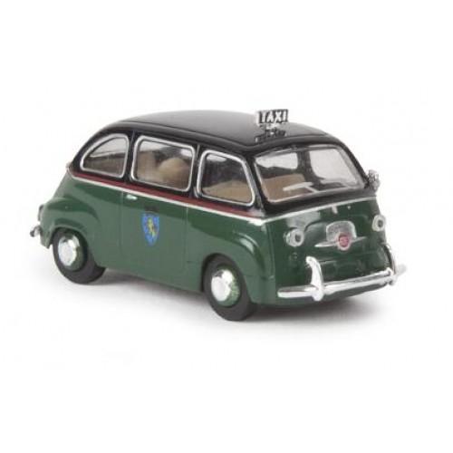 """Fiat Multipla """"Taxi"""" 1-87 Groen/Zwart Brekina"""