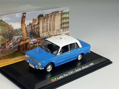 "Lada Vaz 2101 ""Addis Ababa 1980"" Blauw 1-43 Altaya Taxi Collection"