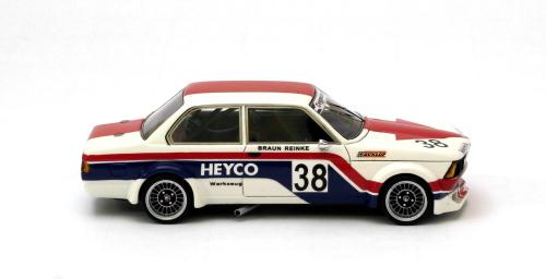 BMW 320i Heyco ETCC 1977 #38 1-43 Wit/Rood/Blauw Neo Scale Models