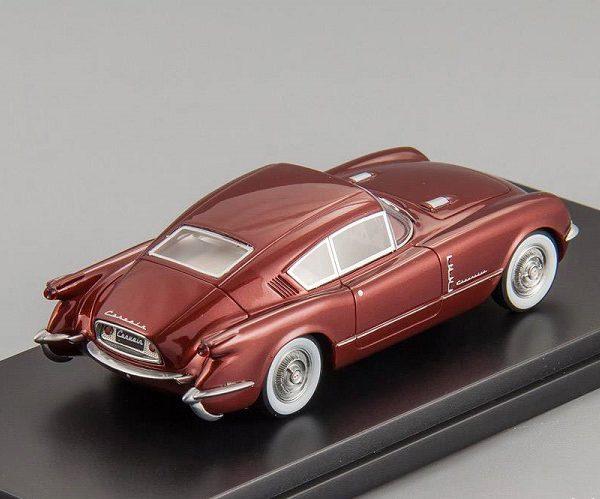 Chevrolet Corvette Corvair Concept 1954 Bordeaux Rood 1-43 BOS Models
