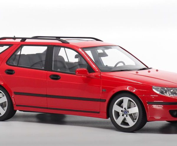 Saab 9-5 Sportcombi 2005 Lazer red 1/18 DNA Collectibles