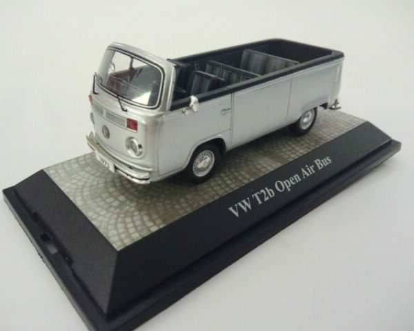 Volkswagen T2 Open Air Bus Zilver 1:43 Premium Classixxs Limited 500 Pieces