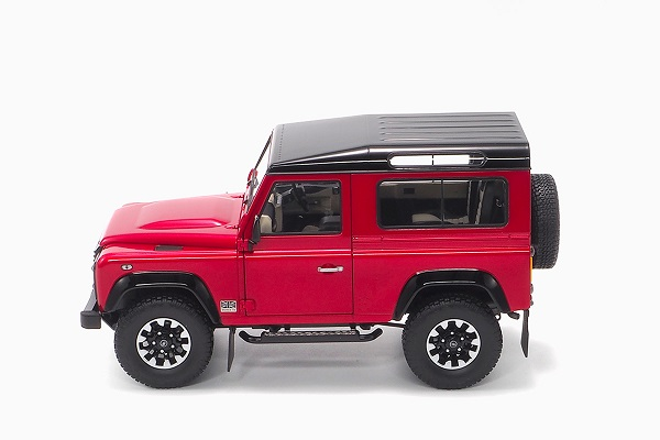 Land Rover Defender 90 Works V8 70Th Edition 2017 Red 1:18 by Almost Real