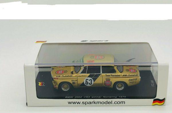 BMW 2002 No.63 Winner Norisring 1975 Jorg Obermoder Gold 1-43 Spark Limited 500 pcs.