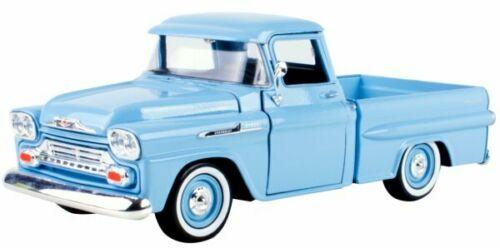 Chevrolet Apache Fleetside Pick up 1958 Lichtblauw 1-24 Motormax