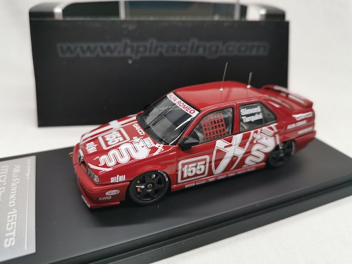 Alfa Romeo 155 TS Silverstone 1994 BTCC Presentation #155 Simoni / Tarquini Rood 1-43 HPi Racing Limited 1504 Pieces