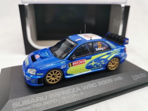 Subaru Impreza WRC 2005 #5 Rally Japan Peter Solberg / Phil Mills Blauw 1-43 HPI Racing