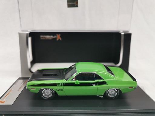 Dodge Challenger T/A 1970 Groen 1-43 PremiumX