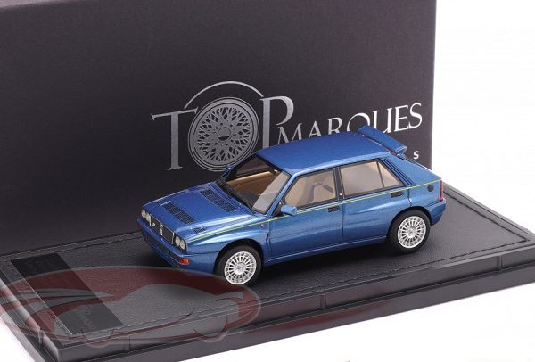 Lancia Delta HF Integrale Evo 2 1992 Lagos Blauw Metallic 1:43 Top Marques Limited 500 Pieces